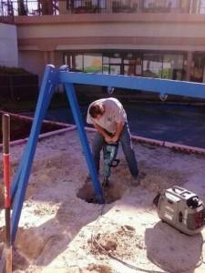 Terry jack hammering